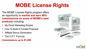 Mobe license rights