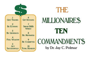 10 commadments for millionnaires